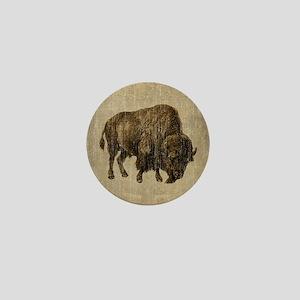 Vintage Bison Mini Button