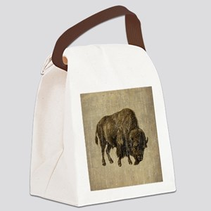 Vintage Bison Canvas Lunch Bag