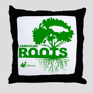 Jamaican Roots Throw Pillow