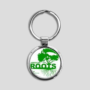 Jamaican Roots Round Keychain