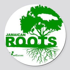 Jamaican Roots Round Car Magnet
