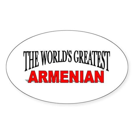 """The World's Greatest Armenian"" Oval Sticker"
