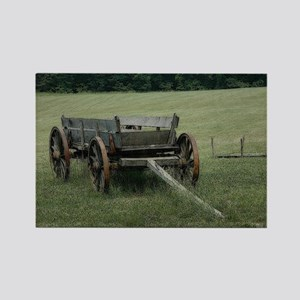 Old Hay Wagon Rectangle Magnet