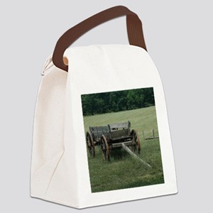 Old Hay Wagon Canvas Lunch Bag