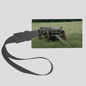 Old Hay Wagon Large Luggage Tag