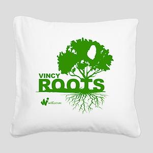 Vincy Roots Square Canvas Pillow