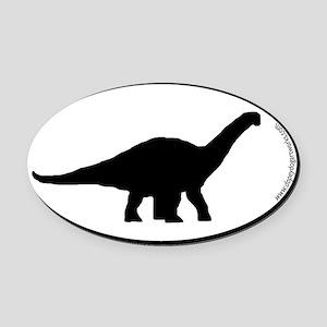Dinosaur Apatosaurus SILHOUETTE Oval Car Magnet