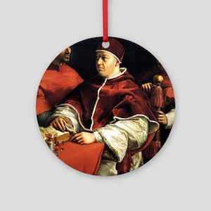 Pope Leo X - Raphael Round Ornament