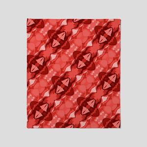 Red Pattern Throw Blanket