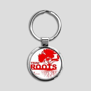 Trini Roots Round Keychain