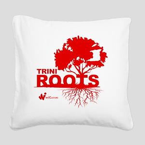 Trini Roots Square Canvas Pillow