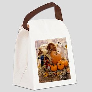 Fall Season Canvas Lunch Bag