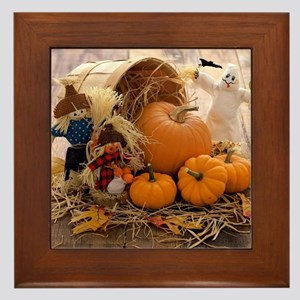 Fall Season Framed Tile