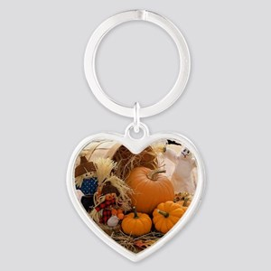 Fall Season Heart Keychain