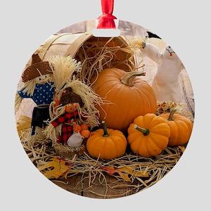 Fall Season Round Ornament