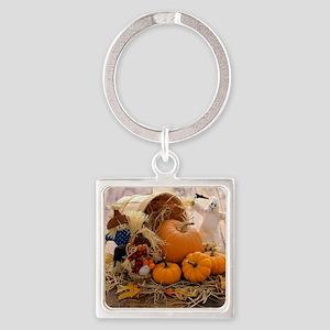 Fall Season Square Keychain