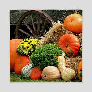 Pumpkins, Fall Themed, Queen Duvet