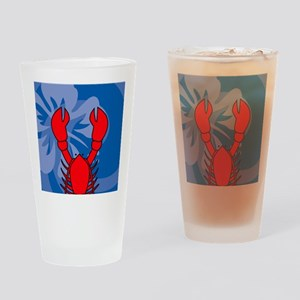 Lobster Snowflake Ornament Drinking Glass