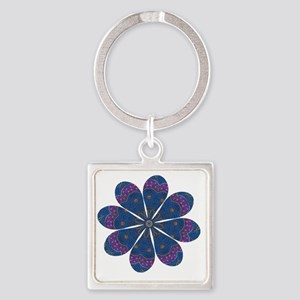 Flower Alchemy Square Keychain