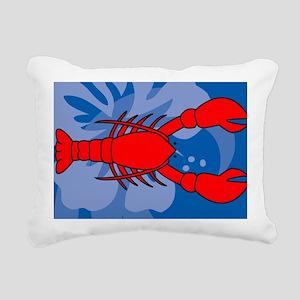 Lobster Yard Sign Rectangular Canvas Pillow