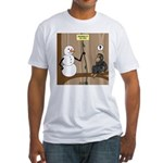 Snowman of the Apes Fitted T-Shirt