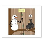 Snowman of the Apes Small Poster