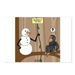 Snowman of the Apes Postcards (Package of 8)