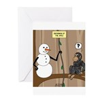 Snowman of the Apes Greeting Cards (Pk of 20)