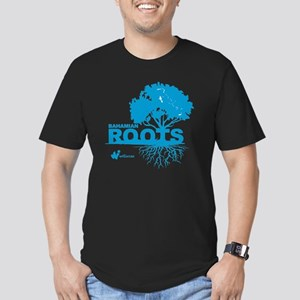 Bahamian Roots Men's Fitted T-Shirt (dark)