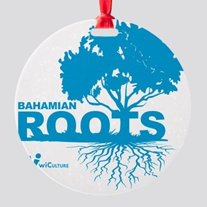 Bahamian Roots Round Ornament