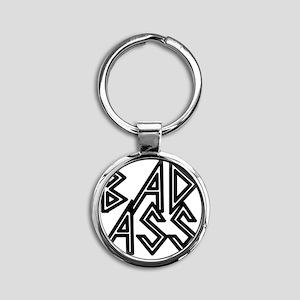 Bad Ass Round Keychain