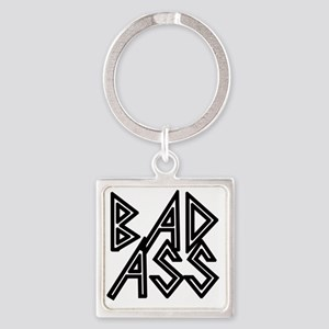 Bad Ass Square Keychain