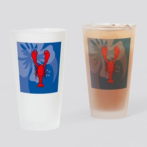 Lobster Beer Label Drinking Glass