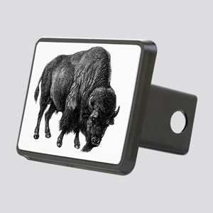 Vintage Bison Rectangular Hitch Cover