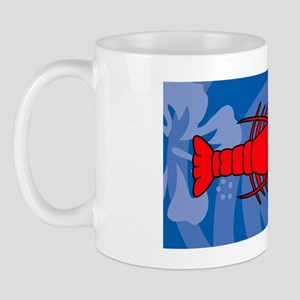 Lobster Aluminum License Plate Mug