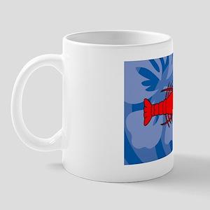 Lobster 35x21 Oval Wall Decal Mug