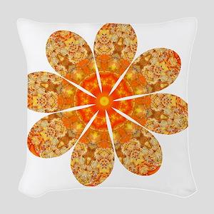 Flower Jewel Woven Throw Pillow