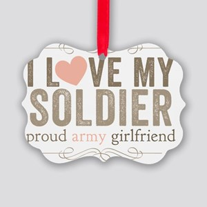 I Love my Soldier Picture Ornament