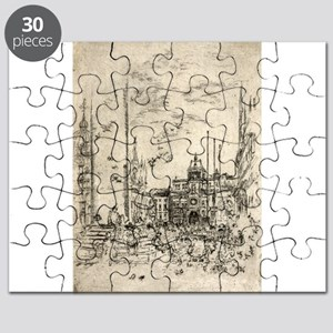 The Piazetta - Whistler - 1880 Puzzle