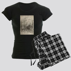 The Piazetta - Whistler - 1880 Women's Dark Pajama