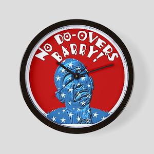 No Do-Overs Obama Wall Clock
