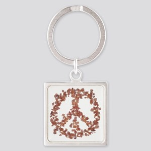 Beloved Flower Peace Square Keychain