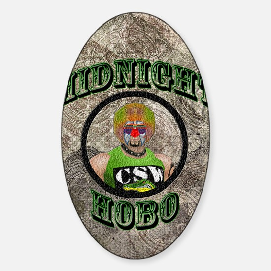 Midnight Hobo Sticker (Oval)