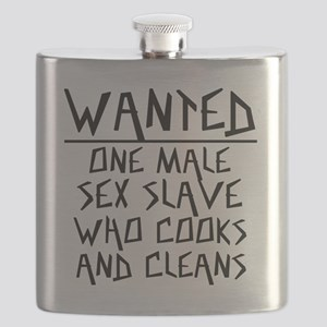 Wanted One Male Sex Slave Flask
