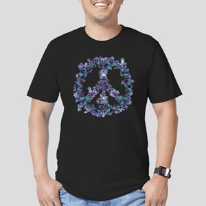 Harmony Flower Peace Men's Fitted T-Shirt (dark)