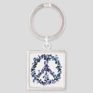 Harmony Flower Peace Square Keychain