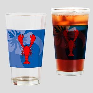 Lobster Wine Label Drinking Glass