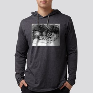 The smithy - Whistler - c1880 Mens Hooded Shirt