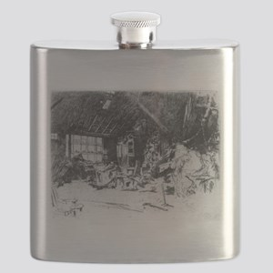 The smithy - Whistler - c1880 Flask