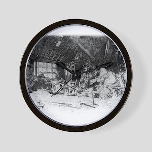 The smithy - Whistler - c1880 Wall Clock